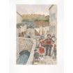 Les chanteurs des rues, sur le vieux pont de la rue des moulins à St Martin d'Etampes